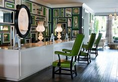 mylusciouslife.com - lobby reception of the viceroy hotel santa monica - gorgeous green decor by kelly wearstler