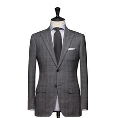 Tailored 2-Piece Suit – Fabric 4545 Glencheck Grey Cloth weight: 270g Composition: 100% Wool Super 140's