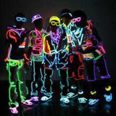neon glow costumes - Google Search
