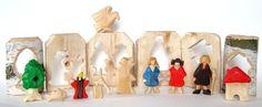 Figuren - Schneeweißchen und Rosenrot - ein Designerstück von rundholz bei DaWanda