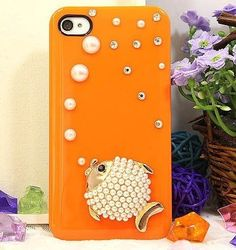 Pearl Fish Protective Plastic Back Case for Iphone4 4s