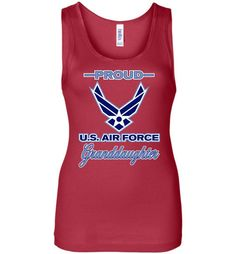 Proud U.S. Air Force Granddaughter Women's Wide Strap Tank