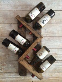 Wine rack-wall mounted wine rack-rustic vintage wine rack by WallisFamilyCustoms on Etsy https://www.etsy.com/listing/266035045/wine-rack-wall-mounted-wine-rack-rustic
