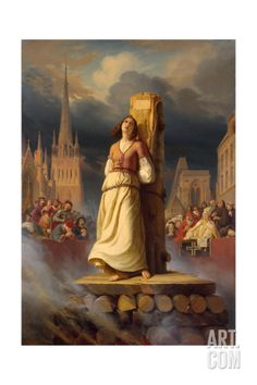 Joan of Arc's Death at the Stake, 1843 Giclee Print at Art.com