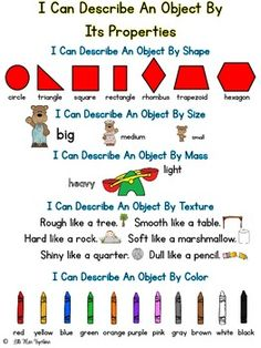 I Can Describe Properties Of An Object!