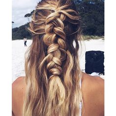 9 5-Minute Hairstyles for Long Hair ❤ liked on Polyvore featuring beauty products, haircare, hair styling tools, hair, hairstyles and hair styles