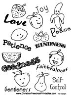 10 free printable coloring sheets based on the Fruit of
