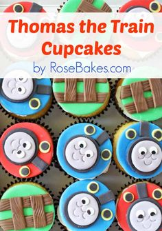 Thomas the Train Cupcakes Header