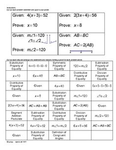 Geometry Proofs Task Cards   Task cards, Math and Learning