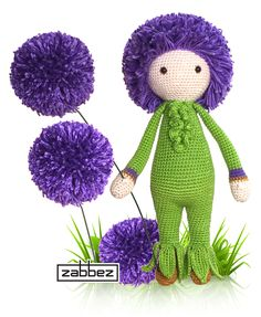 Original Crochet Amigurumi Flowers : 1000+ images about Zabbez crochet flower dolls on ...