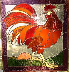 stained glass rooster-rodney- by cheryl kumiski