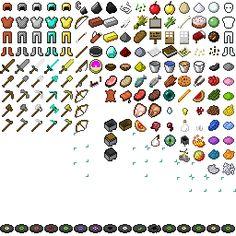 Minecraft items.