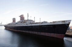 Tied to a pier in Philadelphia for 20 years, the rusted, stripped, but still majestic S.S. United States could return to service as a luxury cruise ship.