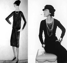Chanel Little Black Dress 1926.    a design product, even before becoming a fashion dress.