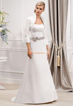 Wunderschön Schlicht Brautkleider aus Satin