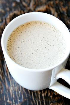 latte with coconut oil - no dairy - heathersfrenchpress.com #coffee#coconutoil