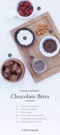 These chocolate coconut bites are vegan and Paleo friendly, making them the perfect guilt-free snack to munch on when you're in need of a sweet (but not too sweet!) treat.