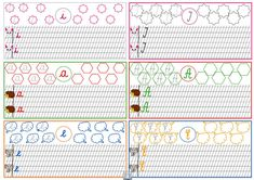Literele mici și mari de mână. Fișe de lipit în caietele copiilor Preschool Activities, Worksheets, Calendar, Notebook, Bullet Journal, Clip Art, Classroom, 8 Martie, Ely