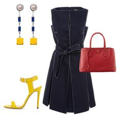 """Lunch Date"" by arta13 on Polyvore featuring Paule Ka, Eshvi, Jimmy Choo and Prada"