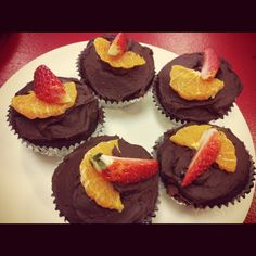 Chocolate with a twist - Chocolate/Beetroot Cupcakes with a Citrus Orange/Choc Icing. Simply Delicious  @ Cafe Flutter Hamilton NZ