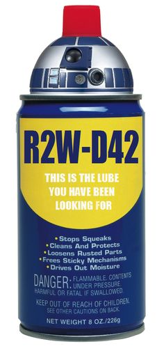 R2W-D42. This is the lube you have been looking for. #R2-D2 #WD-40