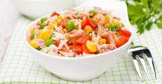 Salade de pâtes au thon, tomate et maïs (facile, rapide) - Une recette CuisineAZ
