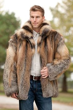 fur fashion directory is a online fur fashion magazine with links and resources related to furs and fashion. furfashionguide is the largest fur fashion directory online, with links to fur fashion shop stores, fur coat market and fur jacket sale. Coyote Fur Coat, Fox Fur Coat, Fur Coats, Cool Jackets For Men, Stylish Jackets, Stylish Men, Fur Fashion, Mens Fashion, Fashion Outfits