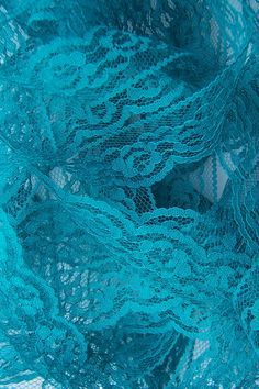 Turquoise Lace Trim