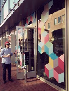 Storefront Facade Graphics and Logo [[MORE]] Design of vinyl storefront facade for the Library Test Kitchen on Mt.Auburn street in Cambridge...