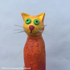 Claudip the knowing cat! Sculpture on driftwood.Made in Ireland by LooneyCreationsShop