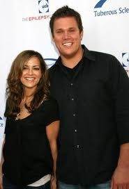 Bob Guiney w/ Rebecca Budig(General Hospital). He deserves to stay single because he broke up with his chosen one, Estella & he divorced twice.