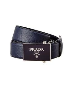 PRADA Prada Plaque Buckle Adjustable Leather Belt'. #prada #belts
