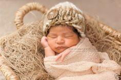 Photo Prop Baby Boy Beanie Hat Newborn Photography Props Hand Spun Wool Brown | eBay