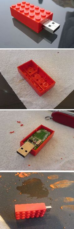Lego USB Stick | 20+ DIY Christmas Gifts for Men | DIY Christmas Gifts for Teen Boys