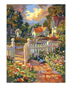 Love this Beyond the Gate Paint by Numbers Art Kit by Plaid on #zulily! #zulilyfinds