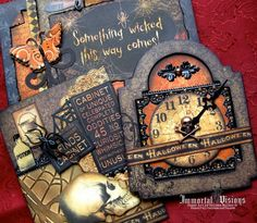 new halloween themed by Immortal Visions Paper Crafts