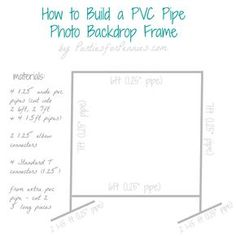 DIY Photo Backdrop Frame with PVC Pipe by PartiesforPennies.com