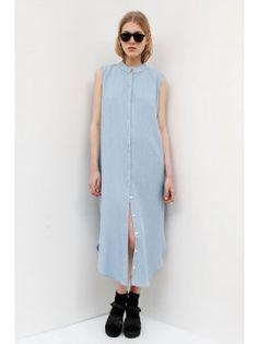 Assembly New York Vest Dress - Light Denim