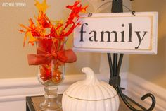 Fun place card holders for fall.