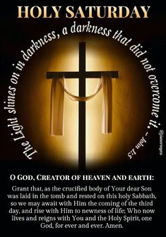 Holy Saturday Quotes, Happy Sunday Quotes, Morning Quotes, Holy Week Prayer, Prayer For Today, Jesus Bible, Bible Scriptures, Happy Wedding Anniversary Quotes, Novenas Catholic