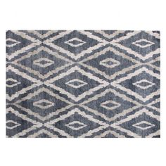 Indigo & Clay Diamond Bamboo Silk Rug - Urban Silk - Temple & Webster presents