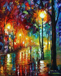 RAINY EMOTIONS - Oil painting by Leonid Afremov. One day offer - $99 include shipping https://afremov.com/RAINY-EMOTIONS-PALETTE-KNIFE-Oil-Painting-On-Canvas-By-Leonid-Afremov-Size-24-x30-60cm-x-75cm.html?bid=1&partner=20921&utm_medium=/offer&utm_campaign=v-ADD-YOUR&utm_source=s-offer