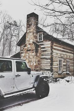 Jeep and cabin! Perfect