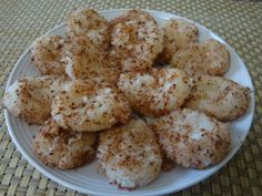 Palitaw with coconut & toasted sesame seeds