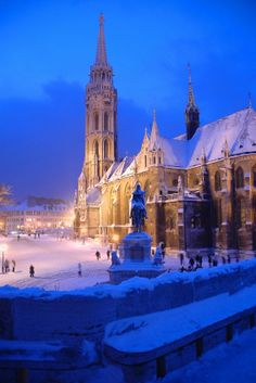 Budapest, Hungary - Matthias Church & Statue of King St. Stephen in Buda Castle. Places Around The World, The Places Youll Go, Places To See, Wonderful Places, Beautiful Places, Amazing Places, Capital Of Hungary, Buda Castle, Kirchen