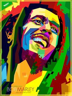 Resultado de imagen para pinturas de bob marley bob - Cuadros de bob marley ...