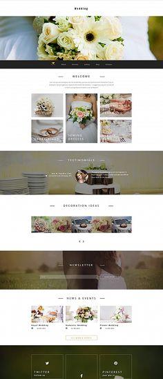 Template 58415 - Wedding Planner  Responsive Moto CMS 3 Template