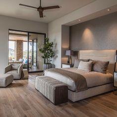 Brown Bedroom Walls, Brown Master Bedroom, Brown Bedroom Decor, Bedroom Colors, Brown Decor, Master Bedrooms, Modern Bedroom Design, Master Bedroom Design, Contemporary Bedroom