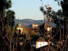 El Castillo de Monforte de Lemos-Galicia desde Seoane.