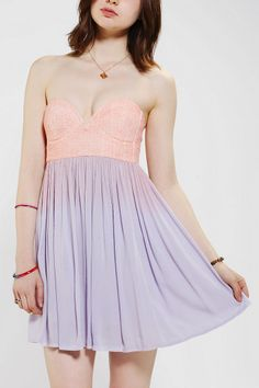 Lovecat Lace-Bustier Strapless Dress to wear to a wedding
